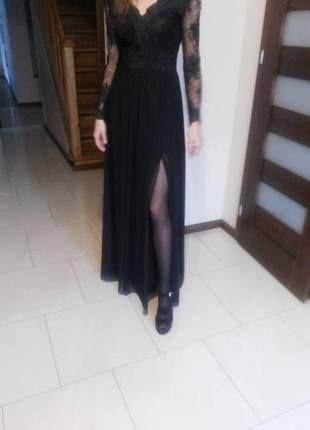 Kup mój przedmiot na #vintedpl http://www.vinted.pl/damska-odziez/dlugie-sukienki/14735061-dluga-czarna-sukienka-z-koronka-idealna-na-wieczorek-studniowke