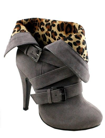 """""""Brandy"""" High Heel Bootie-Grey from Sophisticates Handbags on Storenvy I love these ones better!!!"""
