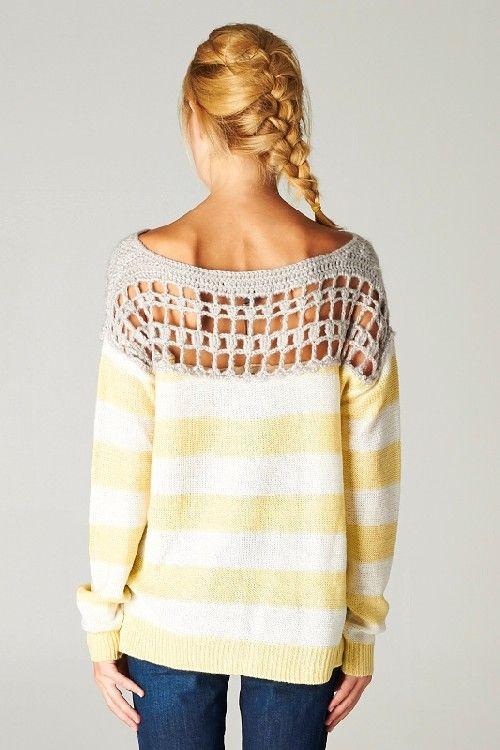 Crochet lace sweater