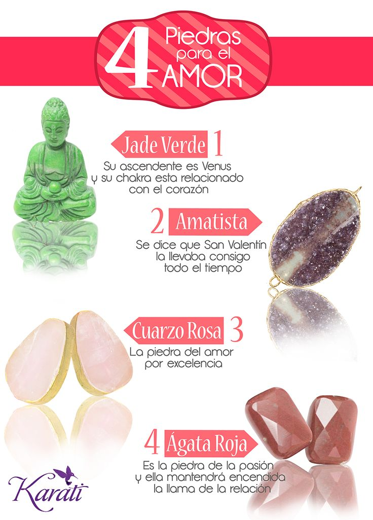 ¿Estas en busca del #amor? o ¿quieres fortalecerlo? Toma nota y conoce estos 4 #cuarzos que puedes usar como amuleto.