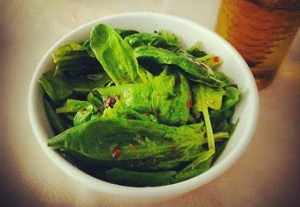Ispanak Salata / Salad of Spinach