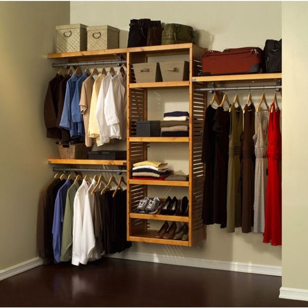 John Louis Home Collection Honey Maple Deluxe Closet System (Honey Maple),  Brown (Wood)