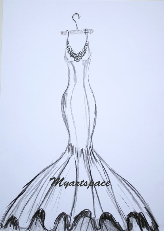 wedding dress drawing custom siren wedding dress by