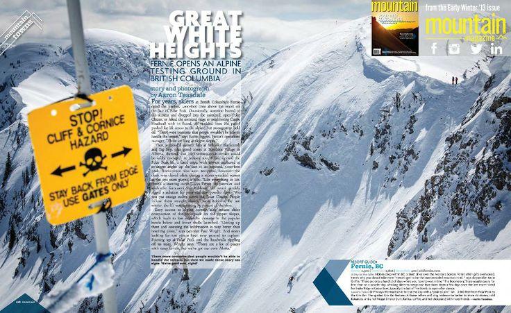 Great White Heights at Fernie Alpine Resort http://www.mountainonline.com/great-white-heights-fernie/