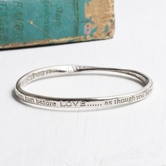 LOVE As Though You Have Never Been Hurt Before Bangle at www.capricci.nl