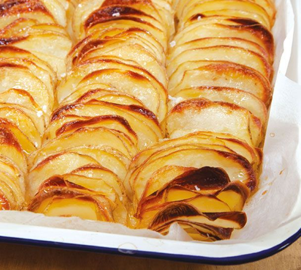 Domino Potatoes Recipe Side Dishes with large potatoes, melted butter, large potatoes, melted butter, salt
