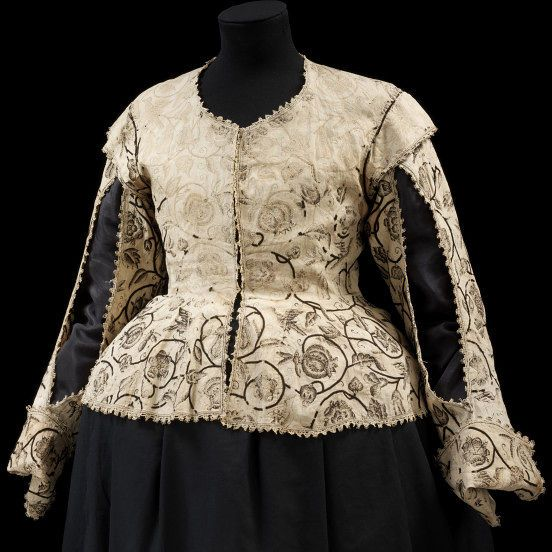 1620-1625, England - Waistcoat - Linen embroidered with silk