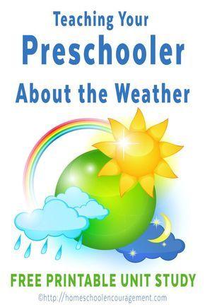 Teaching your Preschooler about Weather: Homeschool Preschool free Weather Unit Study