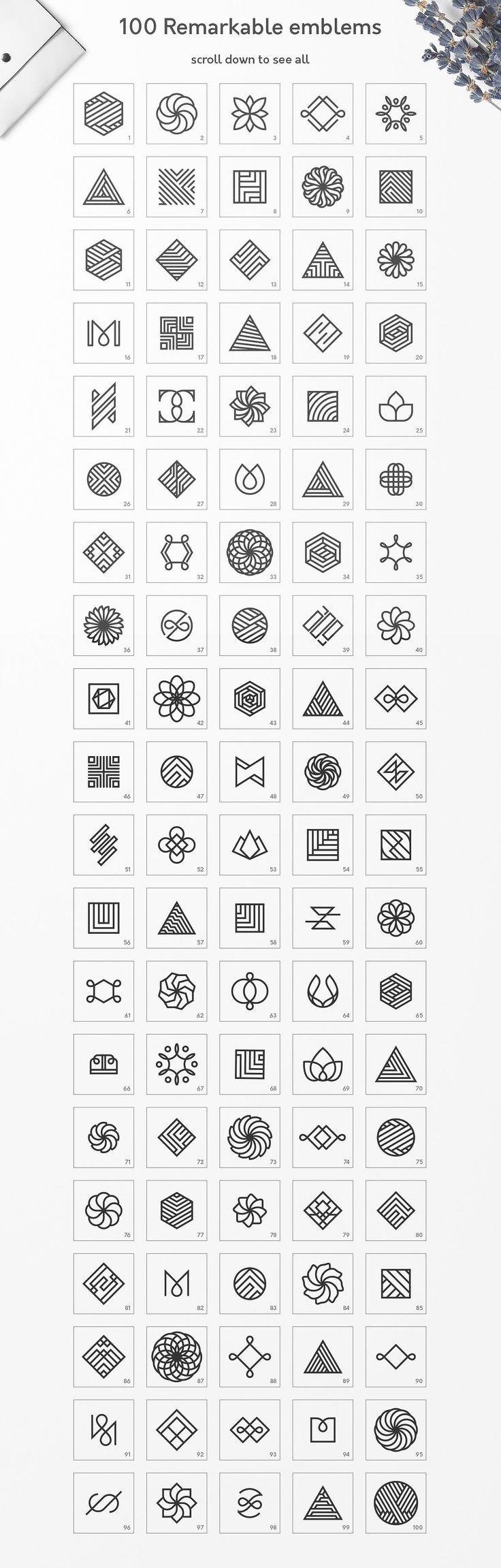 Geometric Logos vol.3 by Davide Bassu on Creative …