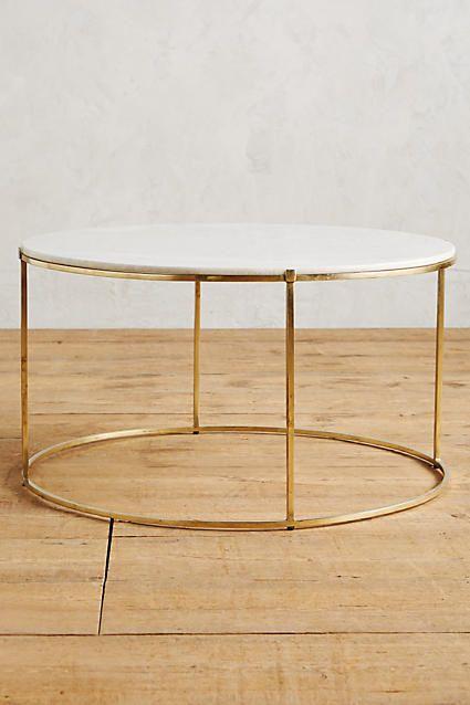 Leavenworth Marble Coffee Table, 19.5''H, 36'' diameter, $600
