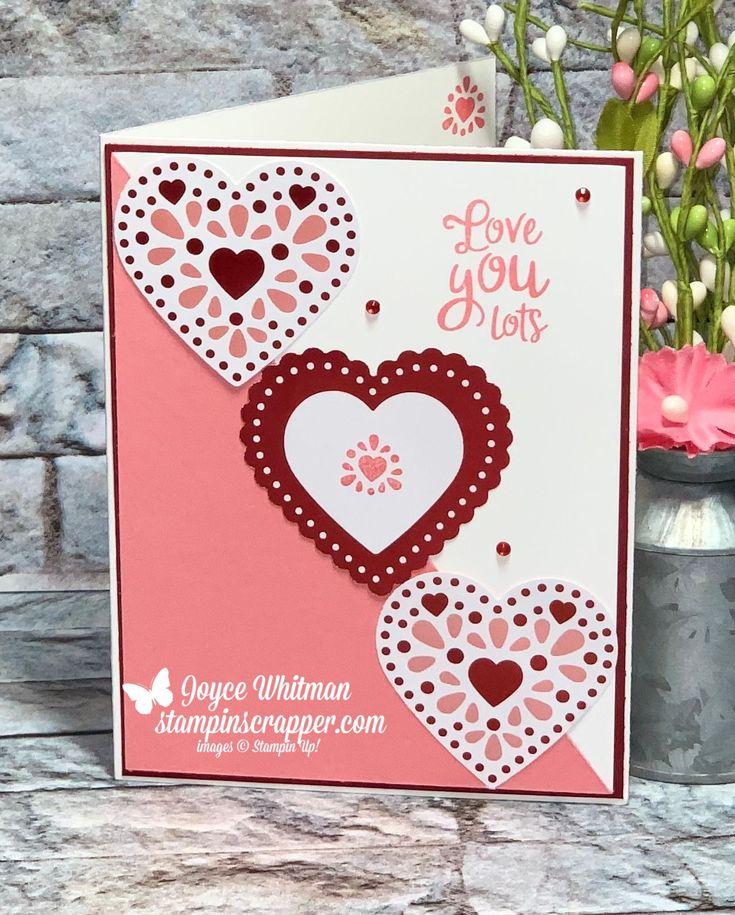 heartfelt valentine's card in 2020  stampin up valentine