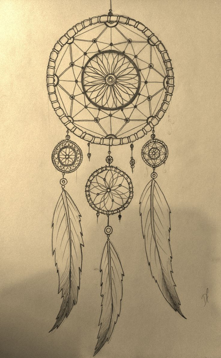 Pretty Dreamcatchers Drawing How To Draw A Dreamcatcher Step By Step  Drawings