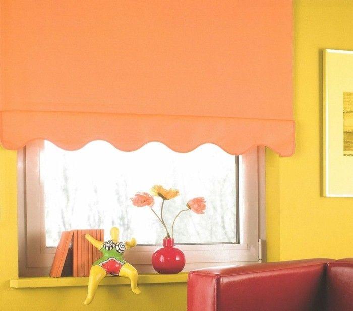 Awesome kinderzimmer fensterdeko farbenfrohes plissee