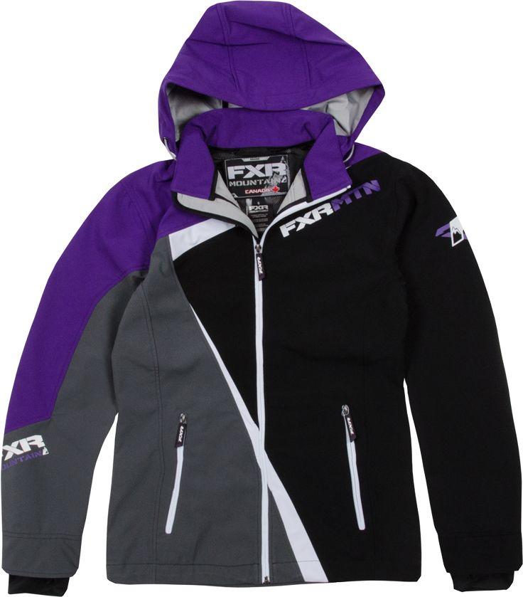 Fxr racing snowmobile gear women s vertical lite softshell hoodie