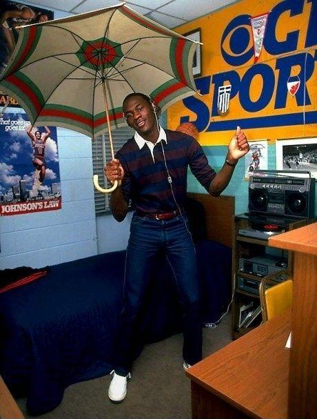 Just Michael Jordan i hans college kollegiev�relse, 1983