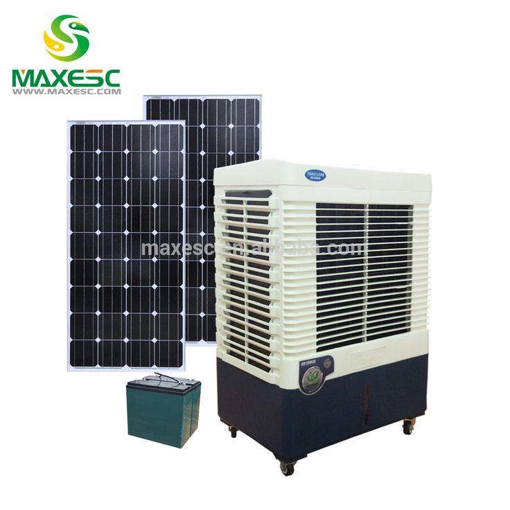Dc Solar Powered Water Cooled Floor Standing Mobile Air Conditioner