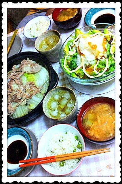 白菜豚肉白菜豚肉と層にして日本酒だけで蒸しました。醤油、一味唐辛子、柚子胡椒で食べます。アボカドサラダが好きなんで野菜だらけな献立になっちまいました。グリンピースご飯も美味しかったですo(^▽^)o - 13件のもぐもぐ - タジン鍋で白菜鍋ほか。 by hanacooooo