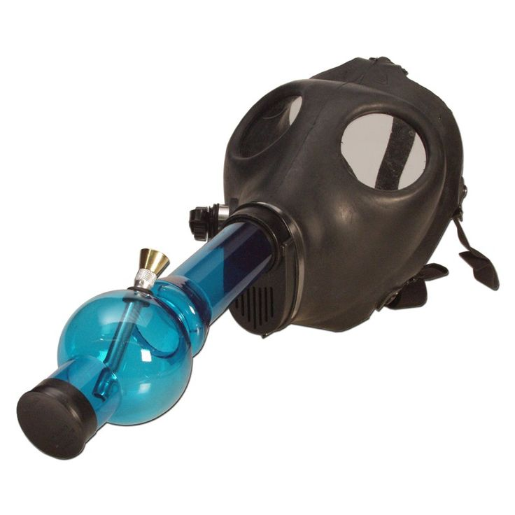 Gas Mask Water Pipe - Sealed Acrylic Water Pipe - Various Colors - AVAILABLE @ www.mapleplanet.com