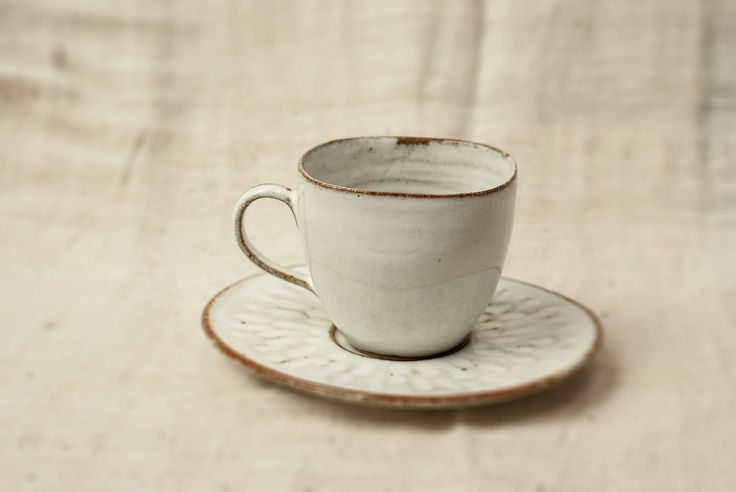 Rustic Teacup and Saucer from Nom Living