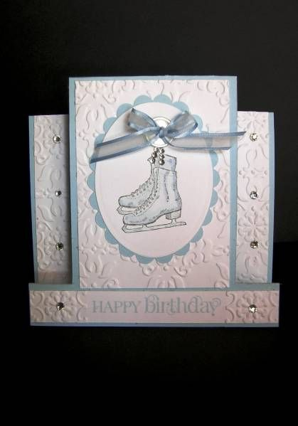 Ice Skates Birthday by cindy501 - Cards and Paper Crafts at Splitcoaststampers