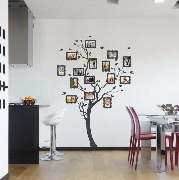 Vinilos decorativos - Pegatina Árbol genealógico de fotos 10x15cm 3430n - hecho a mano por ARTschablone en DaWanda