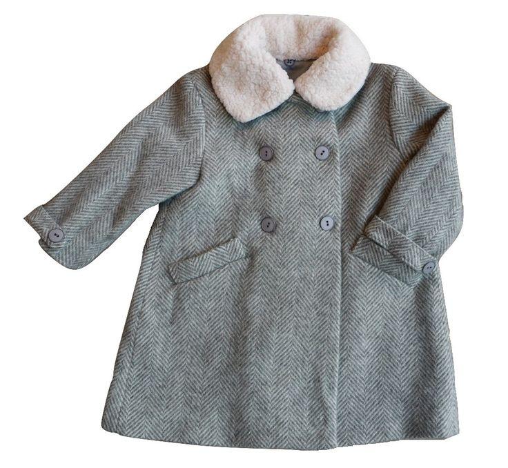 Plumeti Rain - Herringbone Wool Coat - BubbleChops - 1