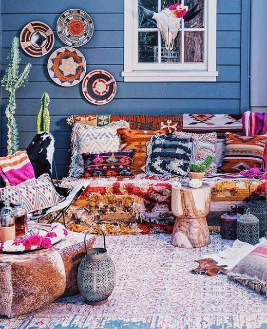 7 kwijl waardige patio's in Boheemse stijl waar je dol op zult zijn!