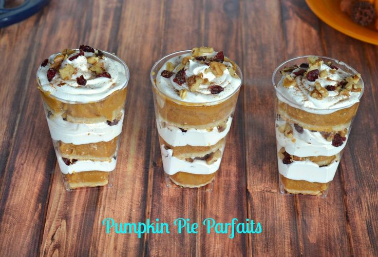 Pumpkin Pie Parfaits are a fabulous individual holiday dessert