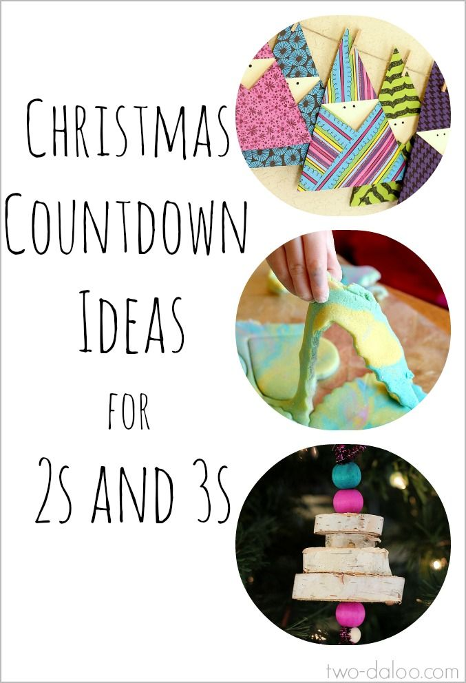 Christmas Countdown Ideas for 2-3 Year olds