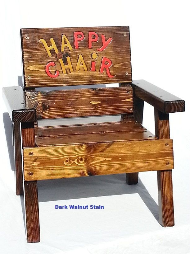 Childrens Wood Folk Art Happy Chair, Kids Indoor/Outdoor Patio Furniture,  Toddler, · Country FarmFolk ...