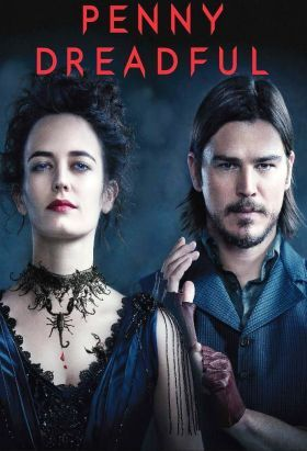 Penny Dreadful (2014-2016) S:1-3 / Ep. 27 / Some of literature's most terrifying characters, including Dr. Frankenstein, Dorian Gray, and iconic figures from the novel Dracula are lurking in the darkest corners of Victorian London. PENNY DREADFUL is a frightening psychological thriller that weaves together these classic horror origin stories into a new adult drama.