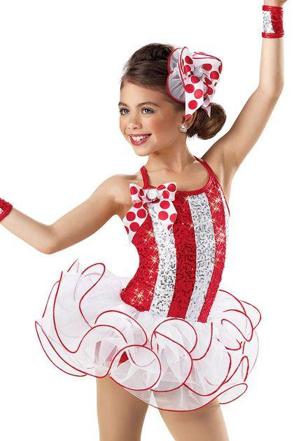 Sequin Striped Curly Hem Dress -Weissman Costumes