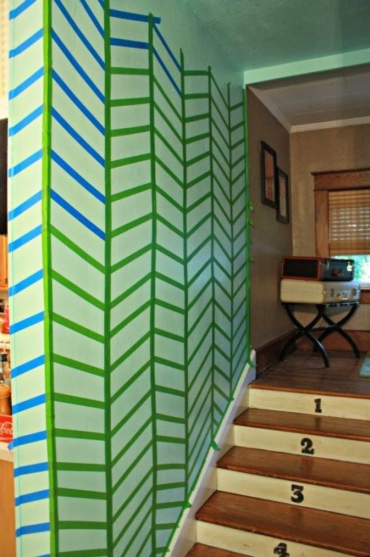 Best Diy Chevron Painted Stairs By Painted Stairs Diy Wall 640 x 480