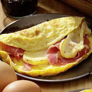 omelette au reblochon et au jambon de montagne