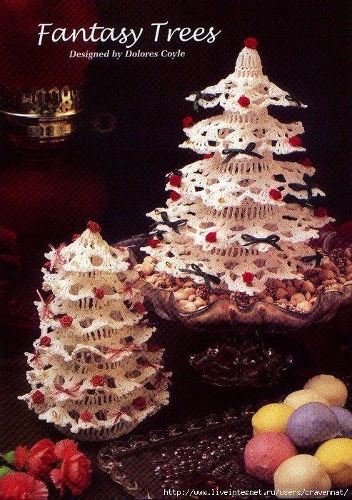 Árvore de natal emcrochê                Anjos de crochet