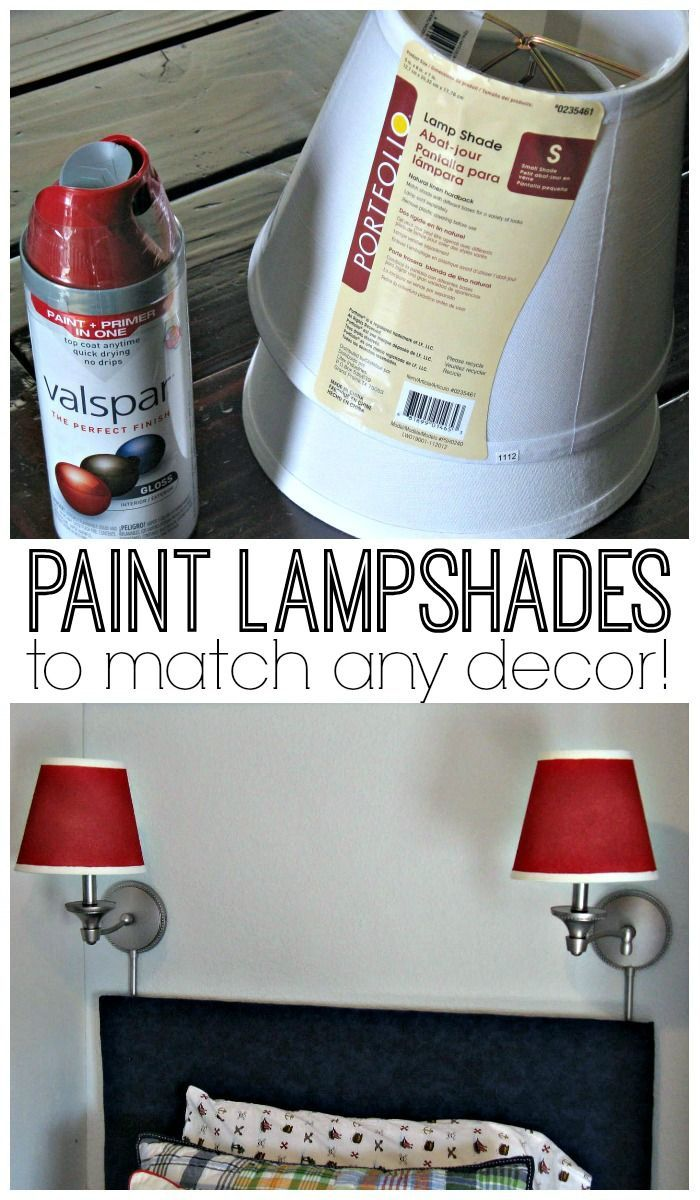 Learn how to spray paint lampshades to match any decor!