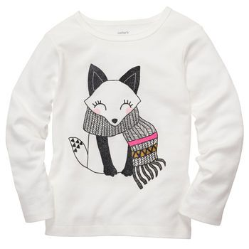 Long-Sleeve Fox Tee $8 at carters.