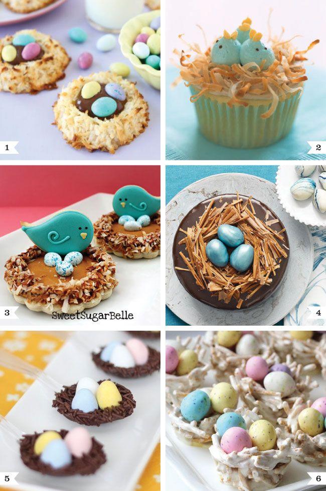 Bird's nest desserts for Easter. Making #6 for an Easter egg hunt on Sat but I'm gonna use pretzel sticks instead of chow mein noodles! Thinking about making #1 for Easter at my mom's & mother-in-law's.