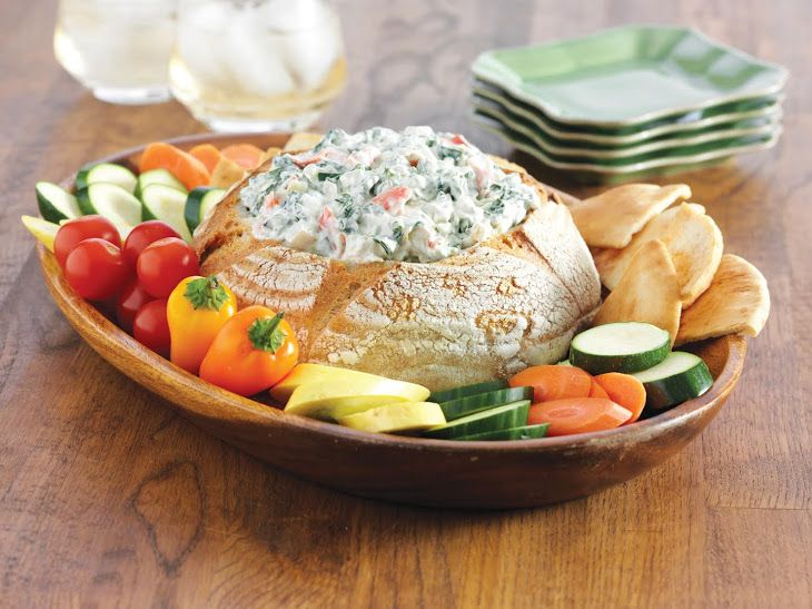Classic Spinach Dip With Greek Yogurt Recipe http://www.yummly.com/recipe/Classic-spinach-dip-with-greek-yogurt-299535