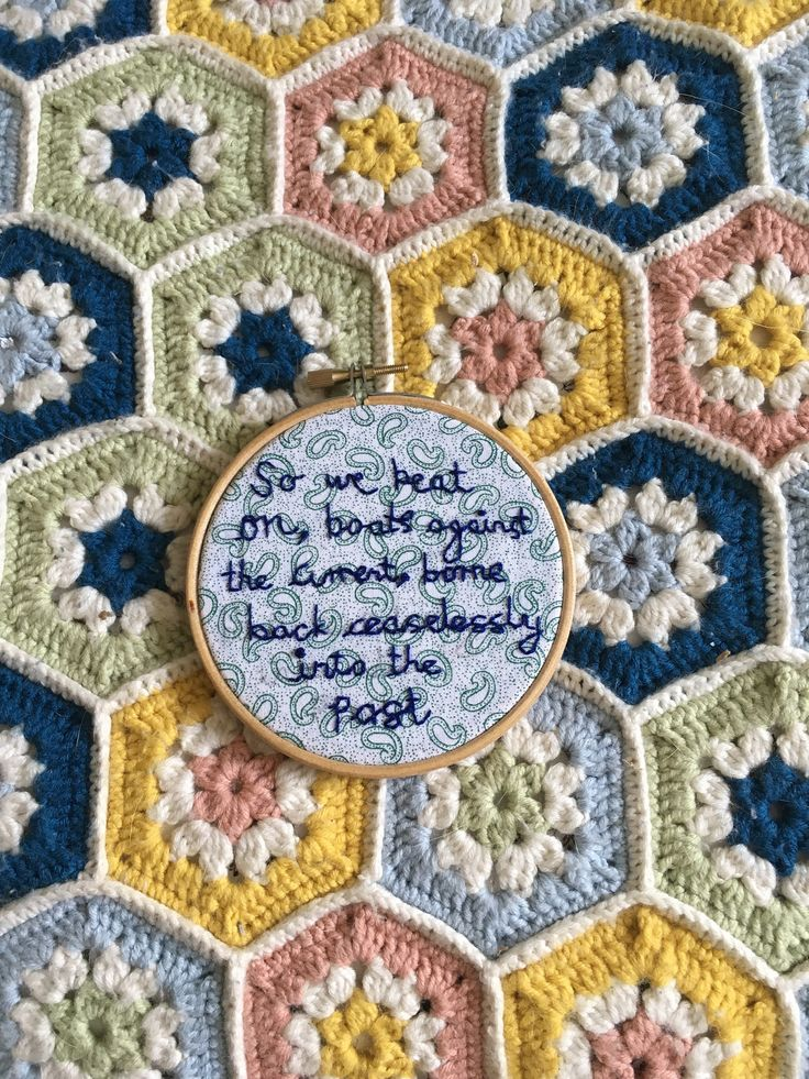 The Great Gatsby Quote on Paisley Fabric - Embroidery Hoop by OffthebeatentrackCo on Etsy