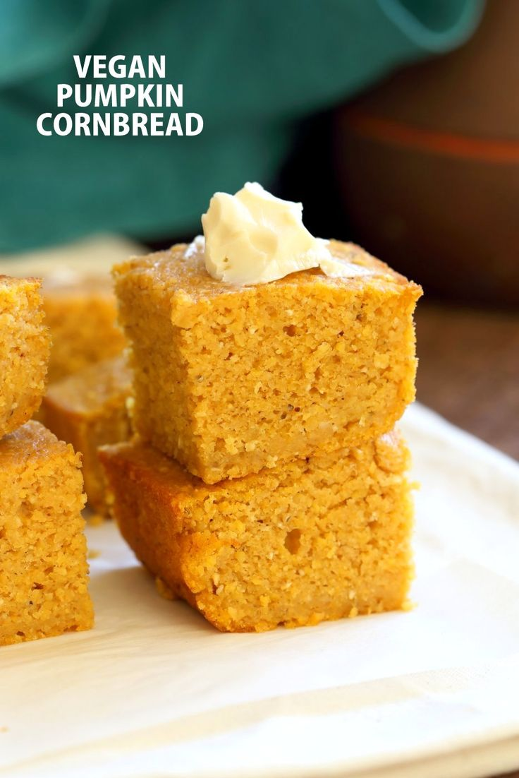 1 Bowl Vegan Pumpkin Corn bread with a few ingredients. Spiced, lightly sweet and great with soups, chilis or on its own. Vegan Soy-free Recipe