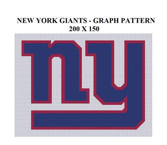 Ny Giants Crochet Afghan Pattern : New York Giants - GRAPH PATTERN CROCHET, TUNISIAN, KNIT ...