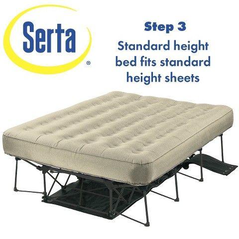 Serta Ez Bed Air Mattress Double High Queen Beds