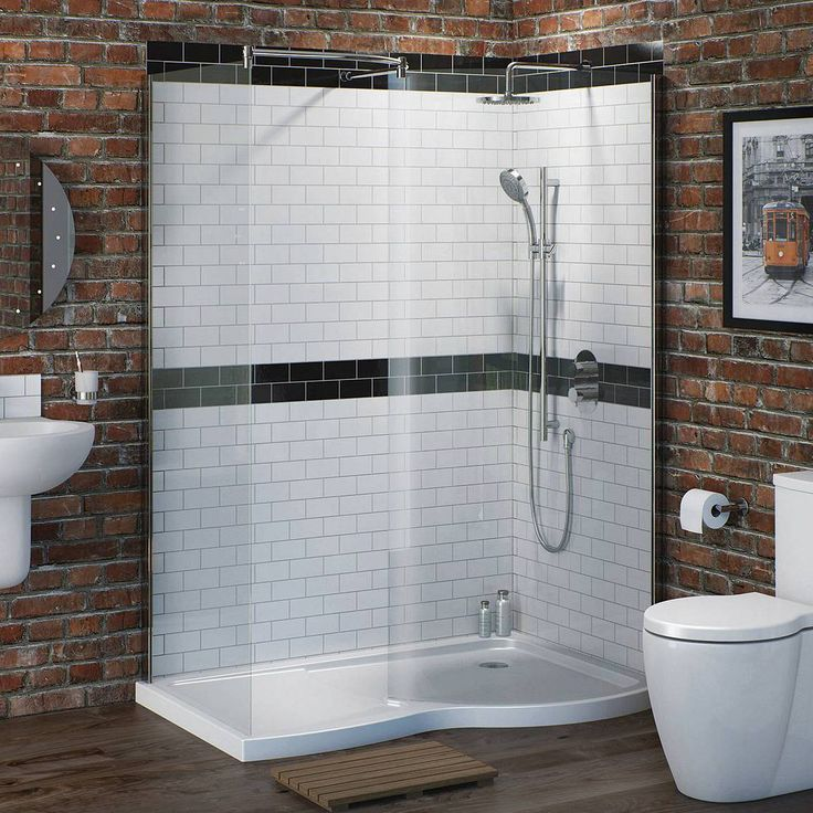 curved walk in shower enclosure pack 1400 x 900 rh cheaper option not to keen on the curve but costs incl waste tray and enclosure
