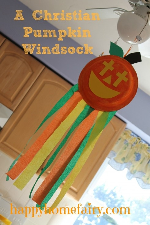 a christian pumpkin windsock craft free printable - Religious Halloween Crafts