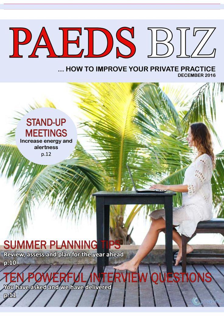 Paeds Biz E-Magazine - December Edition 2016