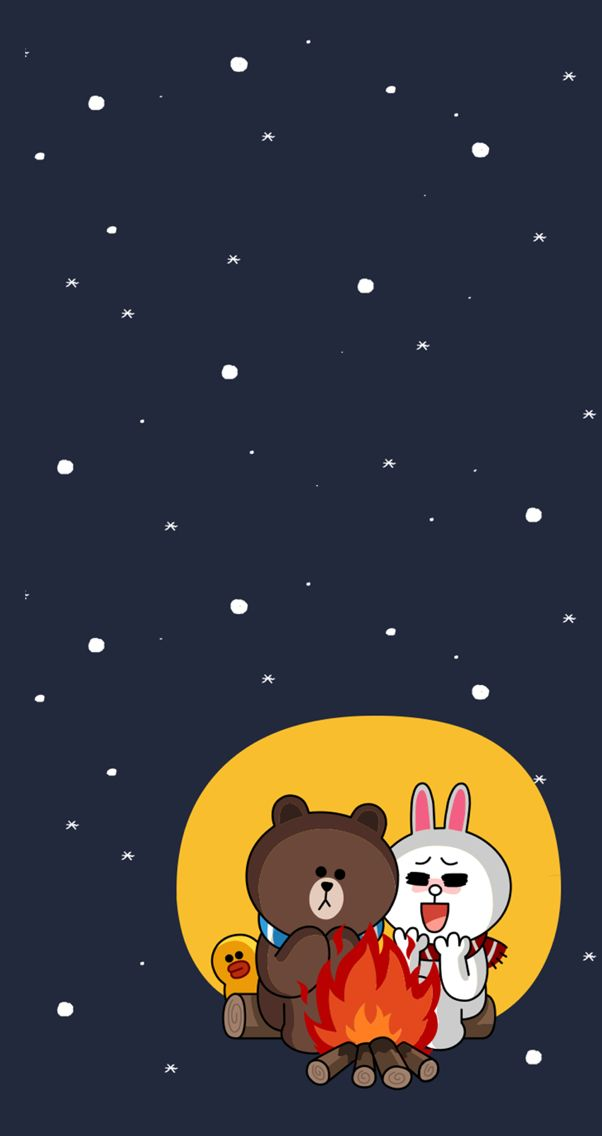 Love in the winter, brown and cony:)