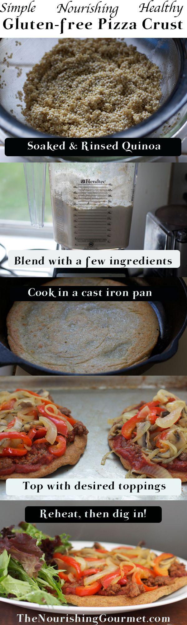 Quinoa Gluten-free Pizza crusts are so simple to make and delicious!