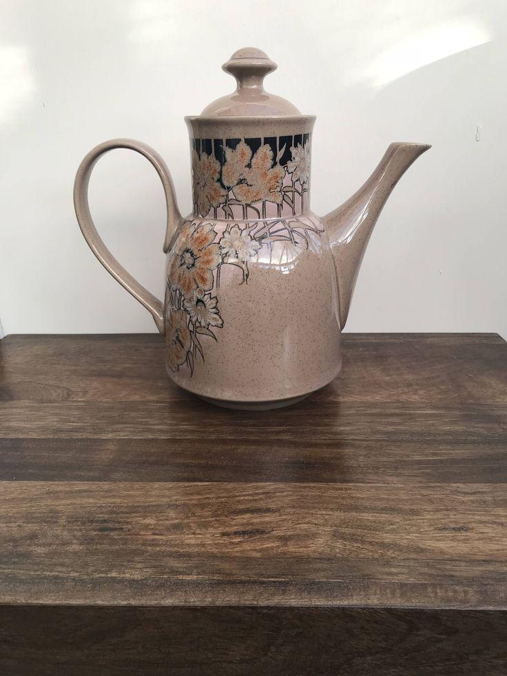 Denby Coffee Pot | Sumatra Coffee Pot | 1980's Pottery | Denby Pottery by NicsLittleShed on Etsy