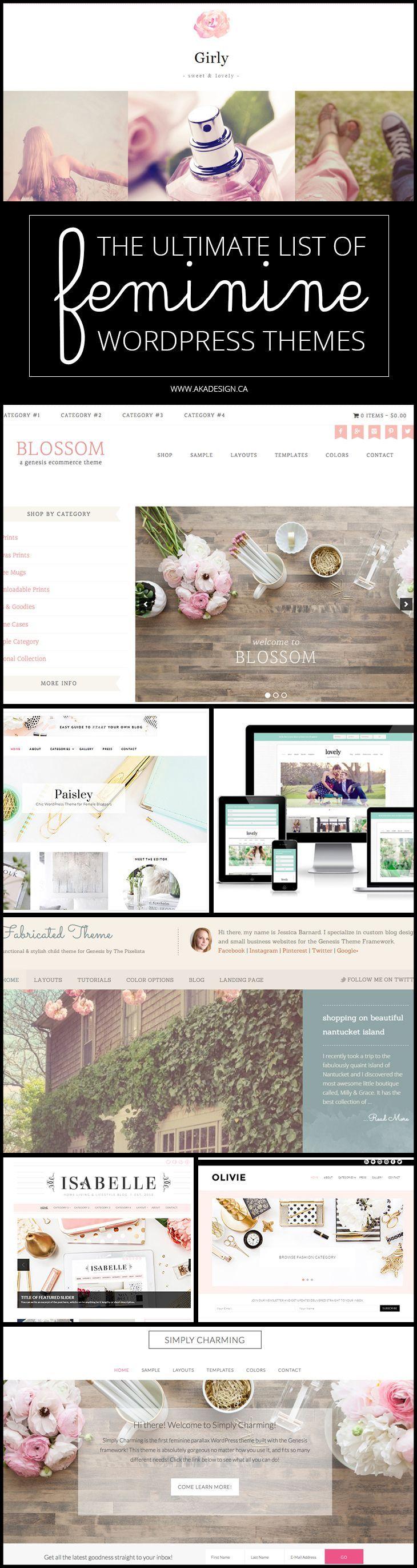 99 best feminine web design inspiration images on pinterest